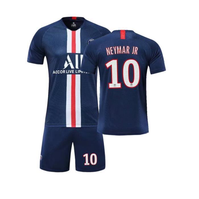 NEYMAR JR NO.10 Paris Saint-Germain 19/20 Jersey Adulte Maillots Foot et Shorts de football Homme