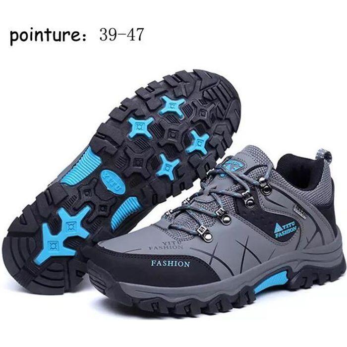 2020 Nouveau Style Chaussures de Randonnée Pour Hommes Marche Imperméable - Gris