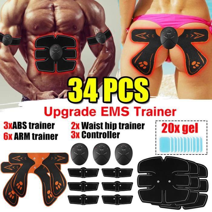 34PCS Appareil Musculation Fitness Muscle Entraînement Hanche Fesses De Levage