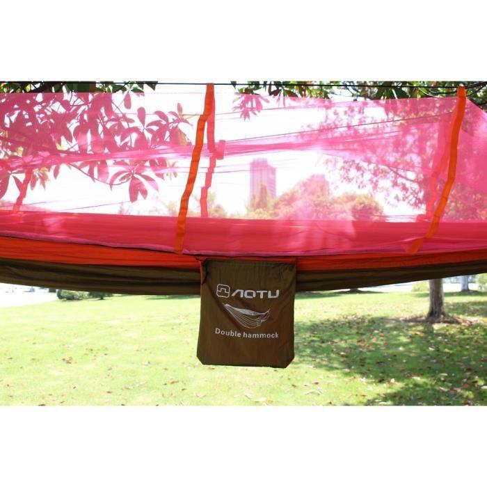 Hamac Moustiquaire, Double Hamac, Vente Kits de voyage Promotion, orange & chameau,Camping militaire, Tapis Livraison gratuite