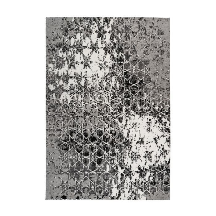 Tapis Vintage à Poils Courts -iglesia- Gris - Paris Prix 160 x 230 cm