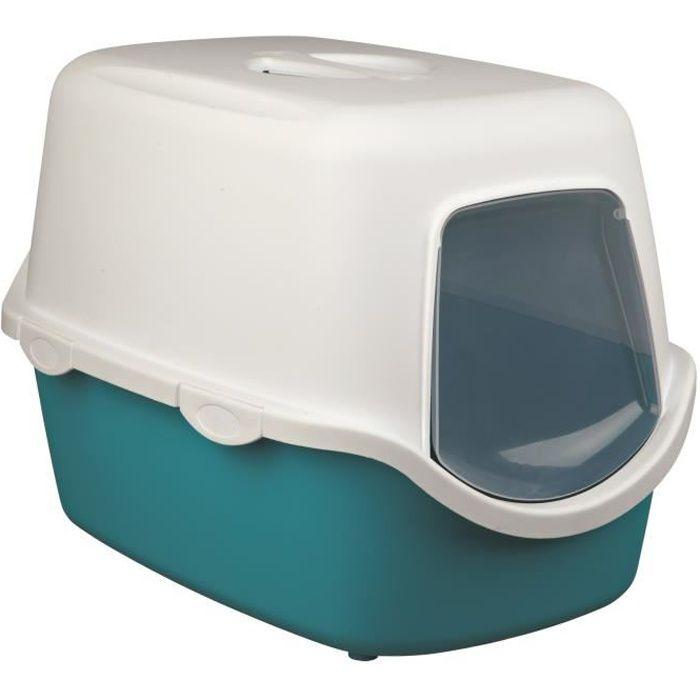 TRIXIE Bac à litière Vico - Aigue-marine - Pour chat
