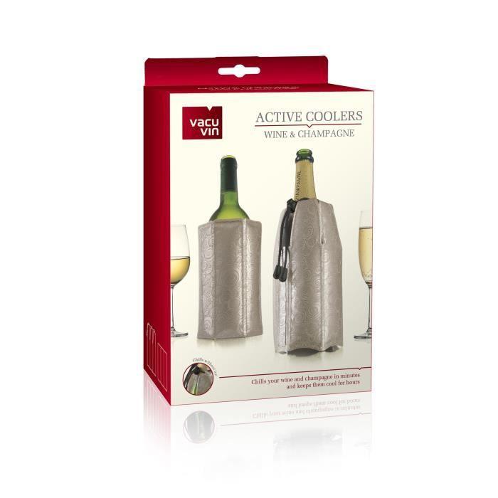 VACUVIN Lot de 2 rafraichisseurs : rafraichisseur Vin et rafraichisseur Champagne Classique