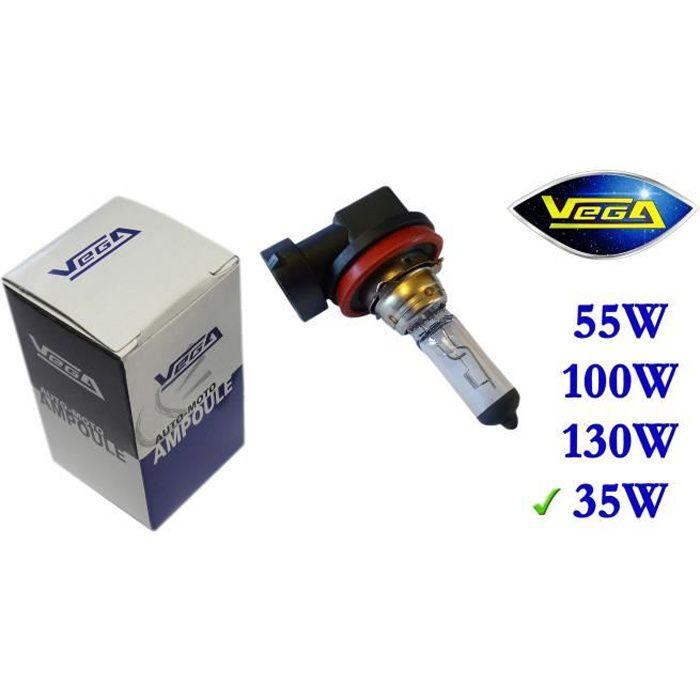1 ampoule Vega® Halogène 'Maxi' H8 35W PGJ19-1 Marque Française Homologuée 12V