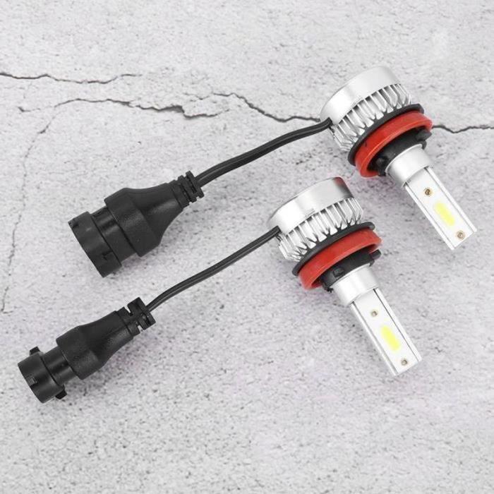 DDN11463-ESTINK ampoule antibrouillard 2pcs H8 - H9 - H11 ampoules de phare de voiture étanche LED antibrouillard lampe 110W 6000K
