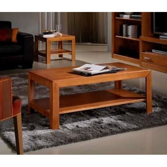 Table basse salon bois massif achat vente table basse for Salon en bois massif