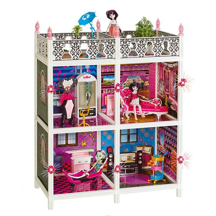 maison de poup e monster high 4 chambre les villas de luxe