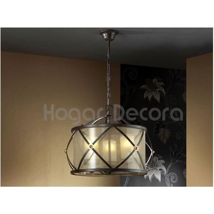 lampes en fer forg mod le artag achat vente lustre et suspension lampes en fer forg. Black Bedroom Furniture Sets. Home Design Ideas