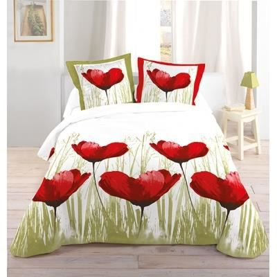 housse de couette et taies d 39 oreiller coquelicot achat. Black Bedroom Furniture Sets. Home Design Ideas