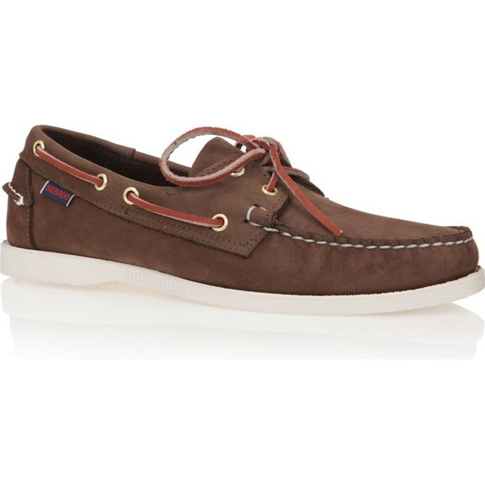 sebago bateau docksides cuir chaussures homme homme marron fonc achat vente sebago docksides. Black Bedroom Furniture Sets. Home Design Ideas