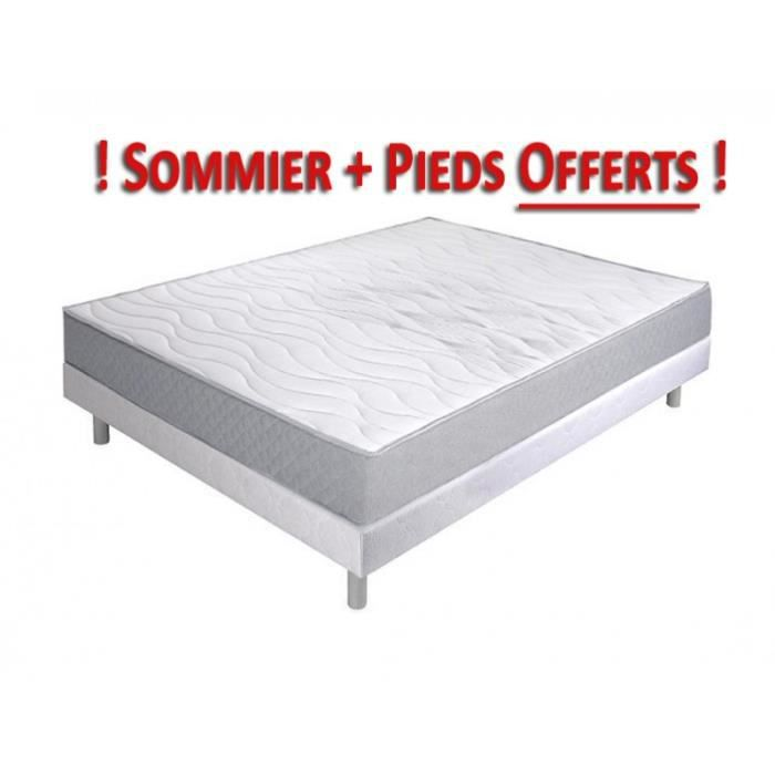 matelas crown bedding renoir 540 sommier et pieds offerts 90x190 ressorts achat vente. Black Bedroom Furniture Sets. Home Design Ideas