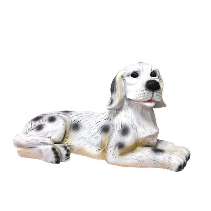 figurine d corative pour jardin 39 chien dalmatien 39 43cm de long achat vente statue. Black Bedroom Furniture Sets. Home Design Ideas