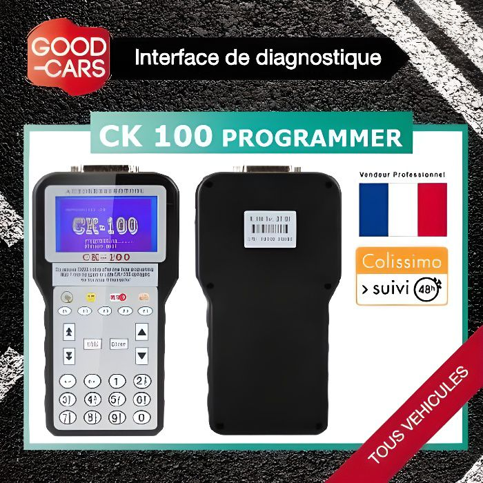 Ck100 key programmer v33 outil de programmation codage cl for Prix diagnostic garage