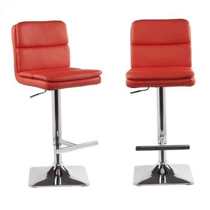 Lot de 2 tabourets chaises de bar reglables housto for Achat chaise de bar