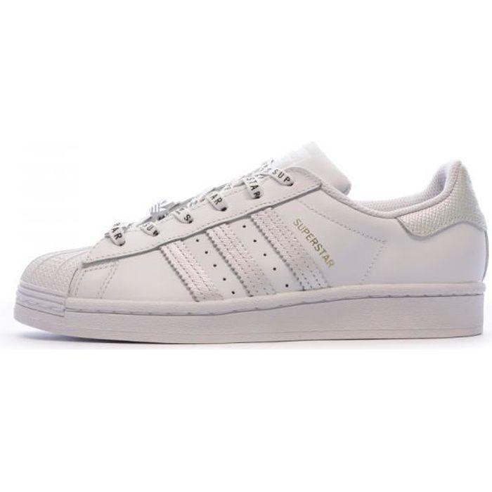 Baskets blanches femme Adidas Superstar W
