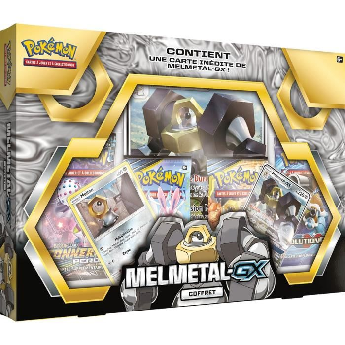 CARTE A COLLECTIONNER POKEMON - Coffret Pokémon MELMATEL GX - 4 Boosters
