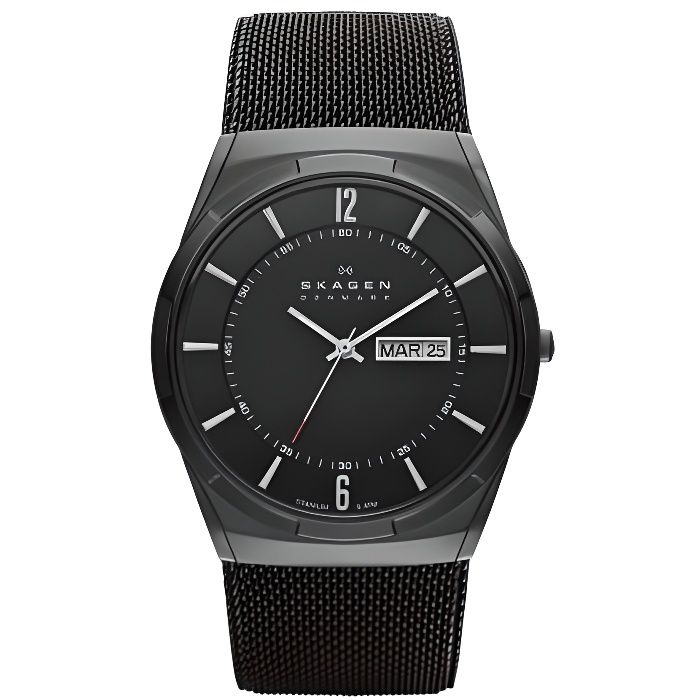 montre skagen homme skw6006 extra plate achat vente montre cdiscount. Black Bedroom Furniture Sets. Home Design Ideas