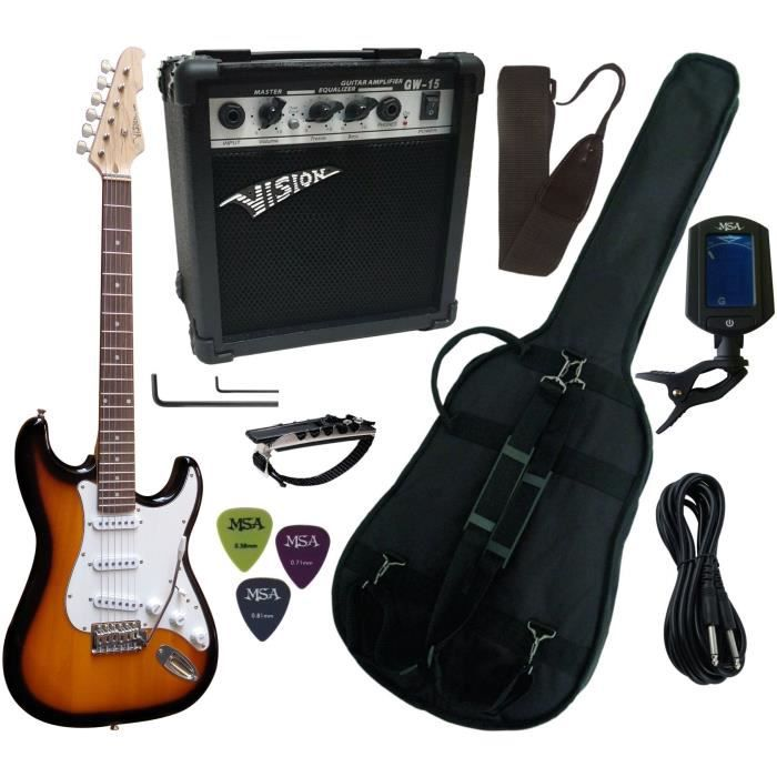 pack guitare electrique ampli15w accordeur lectronique. Black Bedroom Furniture Sets. Home Design Ideas