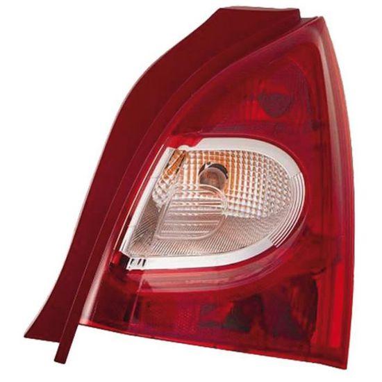Feu arrière droit pour RENAULT MODUS phase 2 de 02//2008 à 12//2013 rouge// incolo