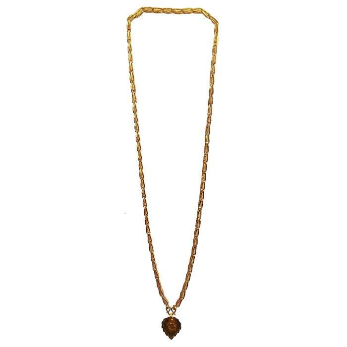 Womens Brass Golden Color Pendant With Chain ForN0K6K