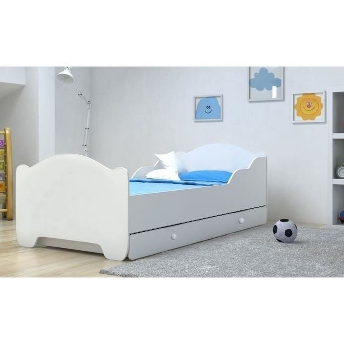 lit enfant m 140x70cm tiroir matelas sommier achat vente lit complet lit enfant m 140x70cm. Black Bedroom Furniture Sets. Home Design Ideas