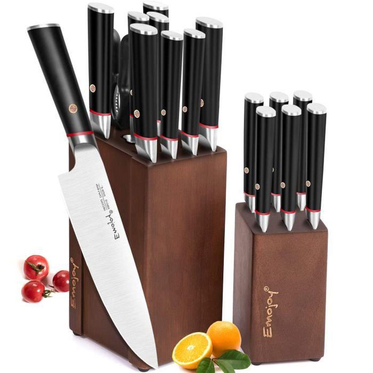 Bloc De Couteau Cuisine Professionnel Lot De Couteaux En Allemand