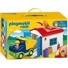 UNIVERS MINIATURE PLAYMOBIL 1.2.3. 6759 Camion Avec Garage