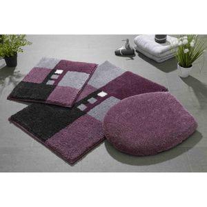 Tapis salle de bain violet