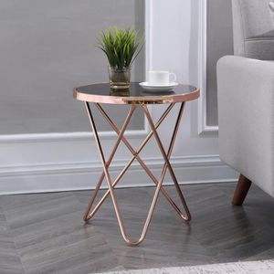 TABLE BASSE Table basse glamour / Table de café - COPPER - ⌀ 4