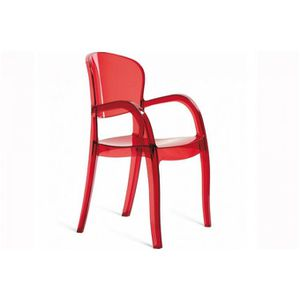 CHAISE Fauteuil rouge transparent Victor