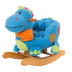 JOUET À BASCULE Cheval à Bascule Enfant, Blue Dinosaur Jouet à Bas