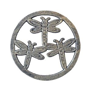 DESSOUS DE PLAT  Dessous de plat en fonte libellule 01x18 cm