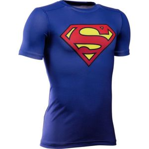 a0b8c09939313 T-SHIRT DE COMPRESSION Baselayer rugby enfant - Superman - Under Amour ...