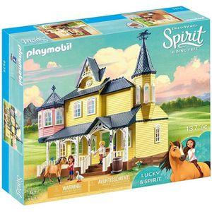 UNIVERS MINIATURE PLAYMOBIL 9475 - Spirit - Maison de Lucky - Nouvea
