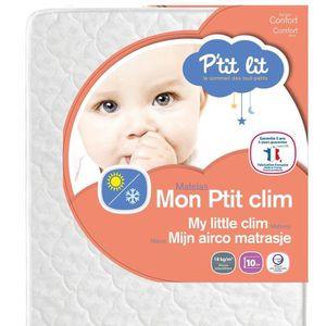 70 x 140 x 10 cm Ptit Lit Fabrication fran/çaise Matelas b/éb/é Mon Ptit Clim Et/é Hiver