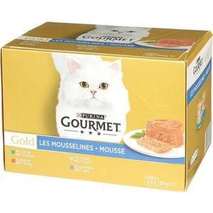 BOITES - PATÉES GOURMET Gold Les Mousselines - Pour chat adulte -