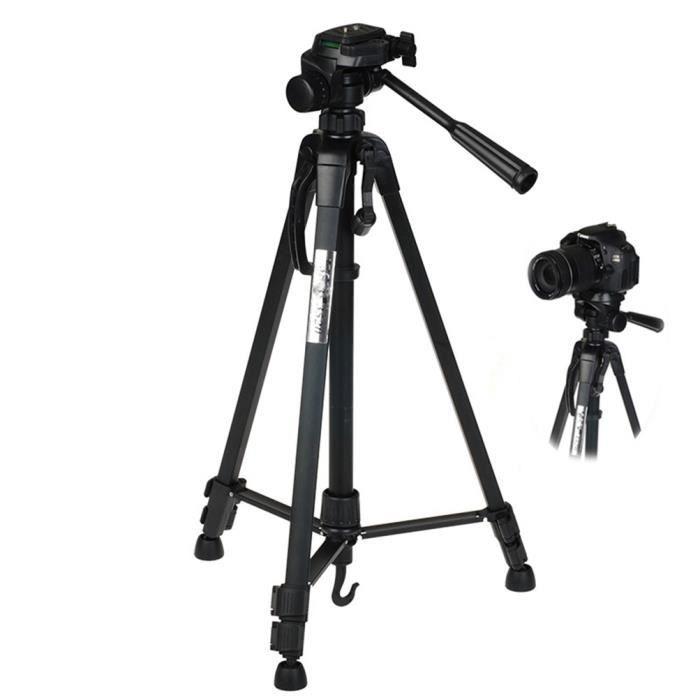 Nouveau trépied professionnel 140cm pour Panasonic Lumix DC-FZ82 Trépied avec vis 1/4 - pour Caméra