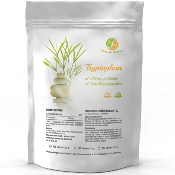 Multi-vitamines et minéraux TRYPTOPHAN 180 comprimés végétaliens un supplément naturel de 500 mg - pour les troubles du 509286