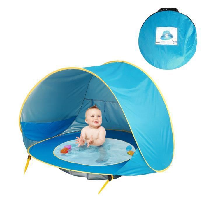Tente d'activité Intégré Tente de Jeu Bébé Pliable Piscine Para-soleil Ombre Bébé pour Plage Extérieur Jardin Cadeau Fille Garcon, B