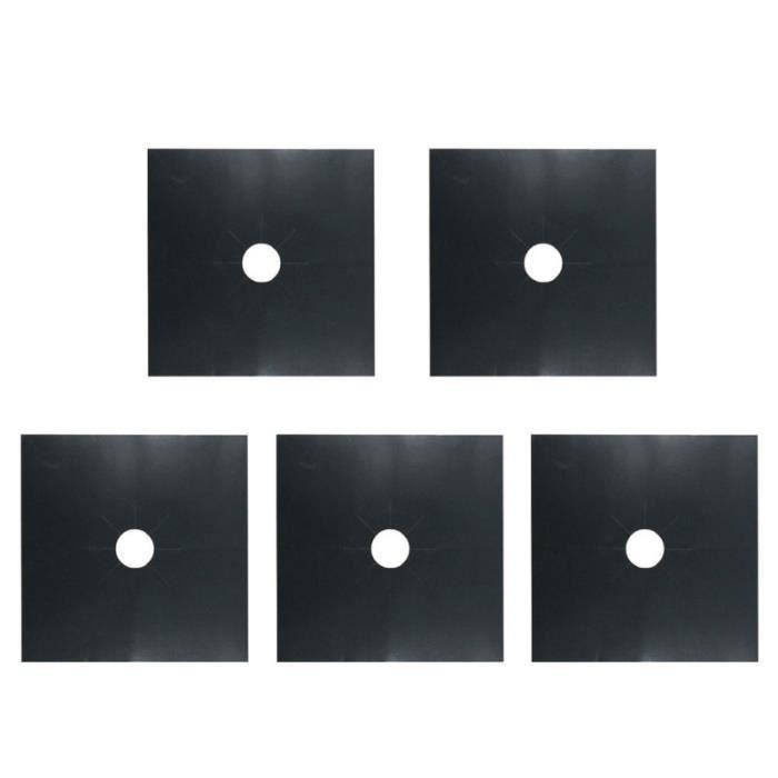 Couvre-brûleur de cuisinière 5 pièces couvercles universels de plaque de cuisson à gaz en téflon CUISINIERE - PIANO DE CUISINE