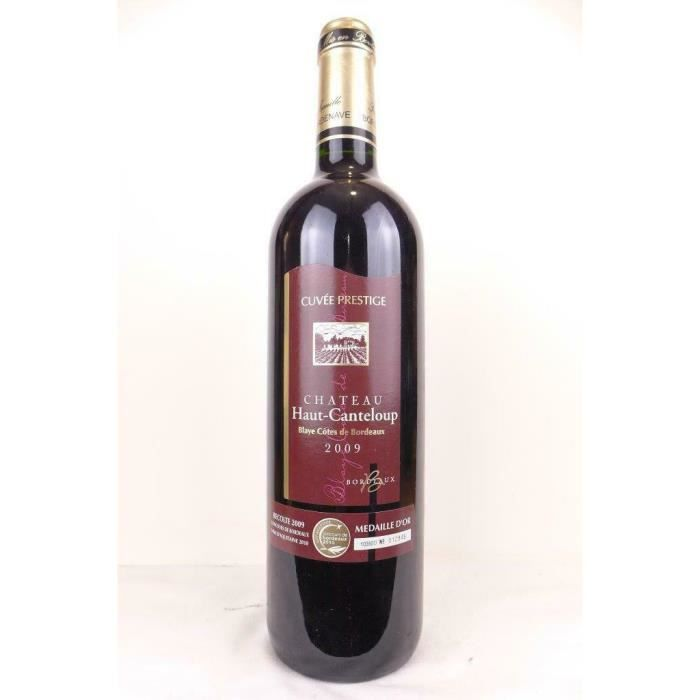 blaye château haut-canteloup cuvée prestige rouge 2009 - bordeaux
