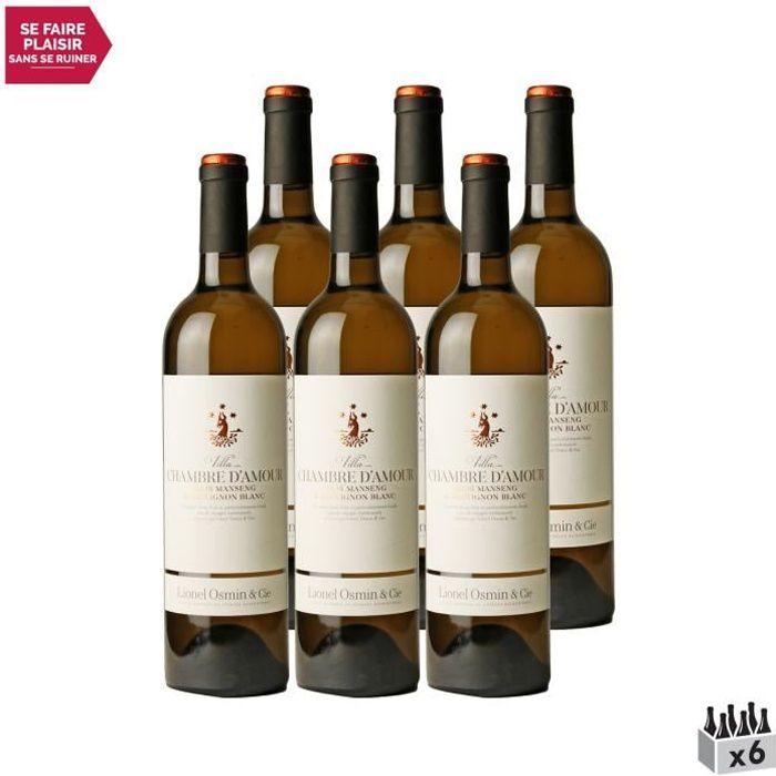 Villa Chambre d'Amour Blanc 2020 - Lot de 6x75cl - Lionel Osmin & Cie - Vin Doux Blanc du Sud-Ouest - Appellation VDF Vin de France