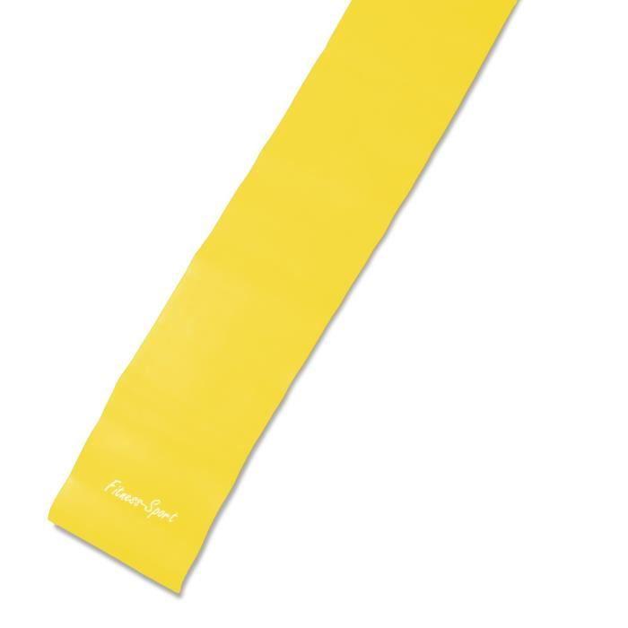 elastique de gymnastique, Fitness-Sport, Dimension: 2,5m x 15cm, Couleur: jaune (facile / souple), Epaisseur: 0,25mm, Ex