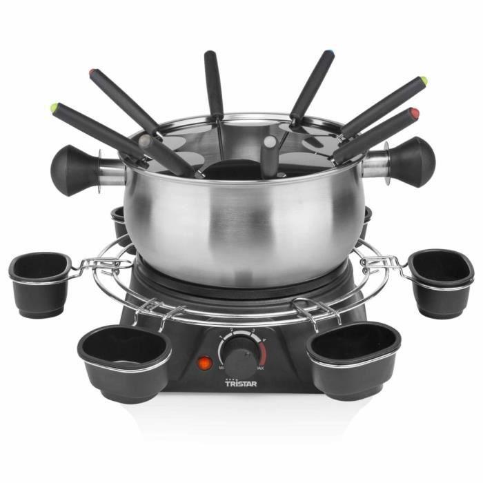 Home��Tristar Haute qualité -Ensemble à fondue Appareil à Fondue 1400 W 1,3 L Acier inoxydable Argenté3983