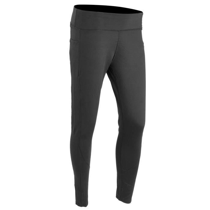Banc de musculation Pantalon de yoga de sport Femmes Fitness Leggings de course taille haute à séchage rapide (L et noir)