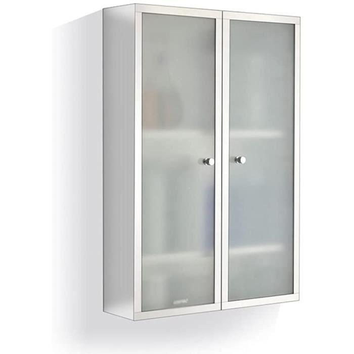 armoire Armoire Latérale De Toilette Toilette Armoire De Rangement Murale Avec Étagère (Color : Blanc, Size : 40 * 60 * 13cm)