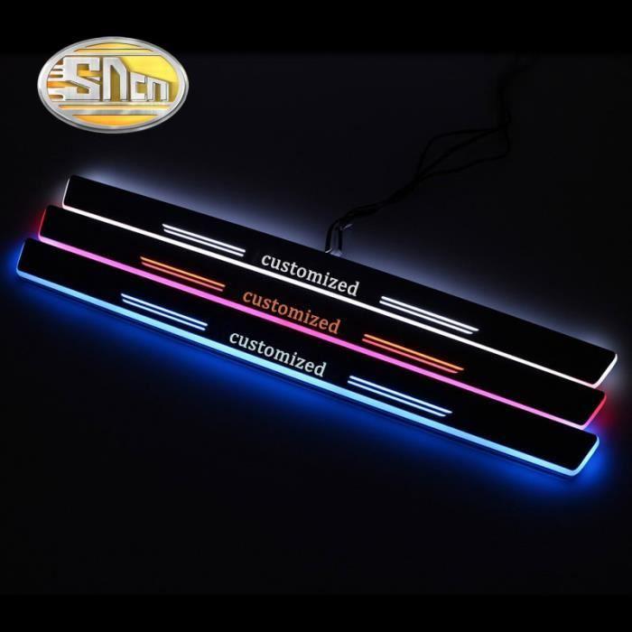 rear 2pcs-red -Acrylique Mobile LED Bienvenue Pédale Voiture Plaque Pédale Porte Lumière de Voie Pour Mercedes Benz W204 W205 C180 C