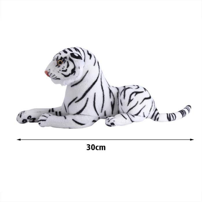 Tigre en peluche artificiel, oreiller de jouet tigre artificiel, chambre en coton et peluche blanche pour enfants enfants à la