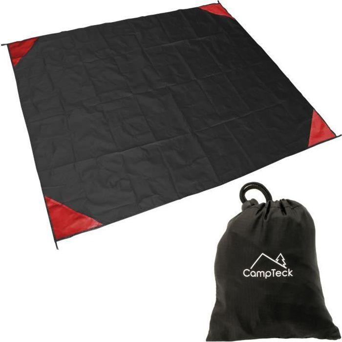 CampTeck Couverture de Poche Tapis de Plage Pliable pique-nique Camping Extérieure Voyage - Noir (140 x 170cm)
