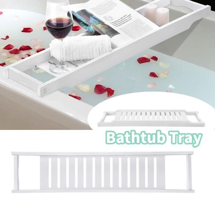 Pont de baignoire plateau tablette de bain salle de bain planche Plateau de Baignoire , Accessoires de salle de bain Z7423